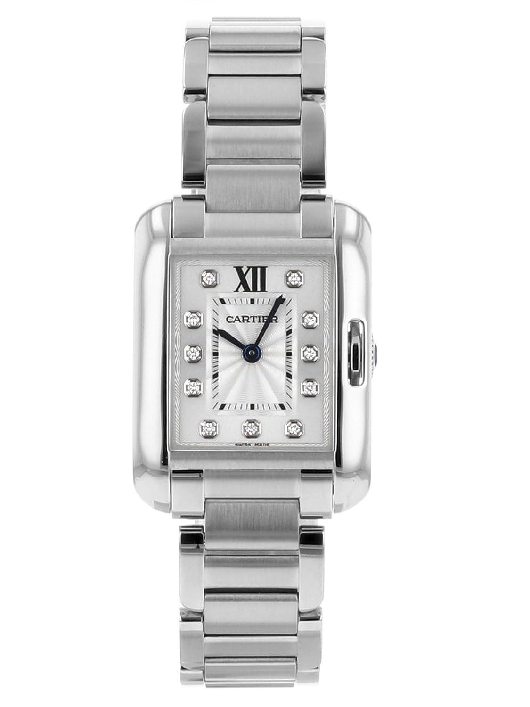 [カルティエ] 腕時計 CARTIER W4TA0003 タンク アングレーズ ウォッチ SM SS シルバー文字盤 クォーツ [中古品] [並行輸入品] B07DD745NB