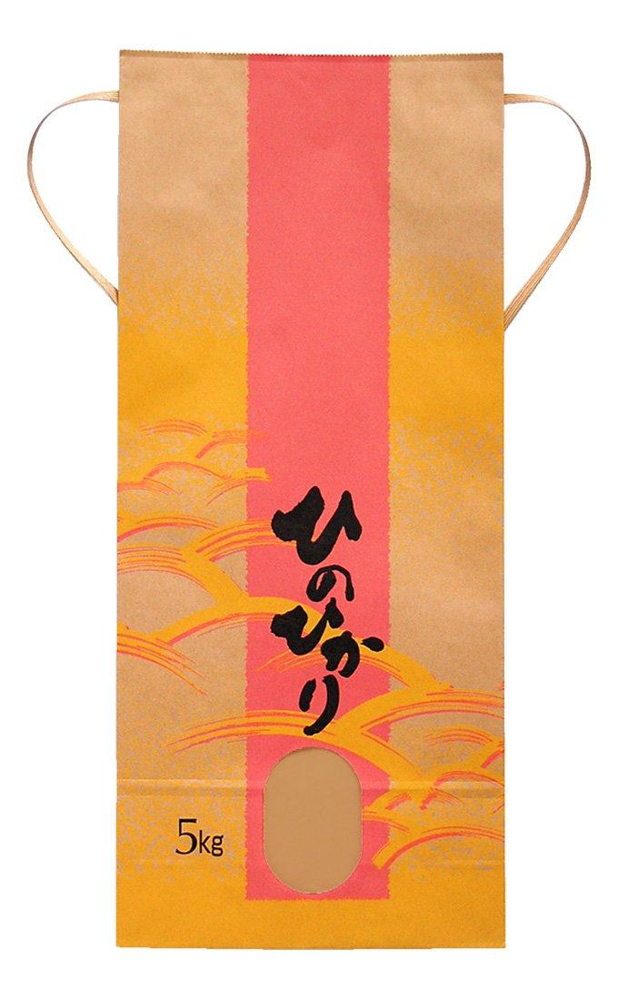 マルタカ クラフト ひのひかり 広海(ひろみ) 5kg用紐付 1ケース(300枚入) KH-0350 B077GKNVDZ 1ケース(300枚入) 5kg用米袋