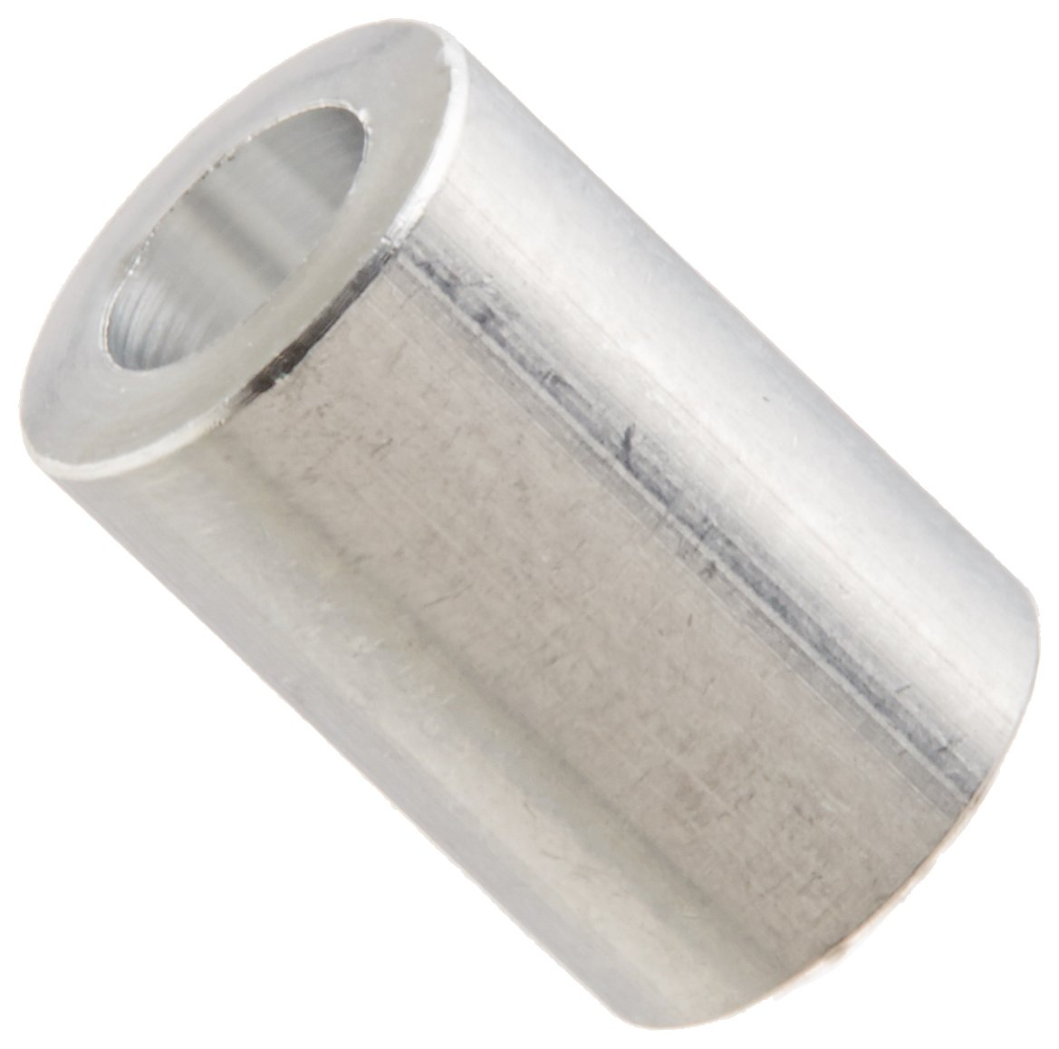 1//4 Length #6 Screw Size Pack of 10 Aluminum 0.14 ID Plain Finish Round Spacer 5//16 OD