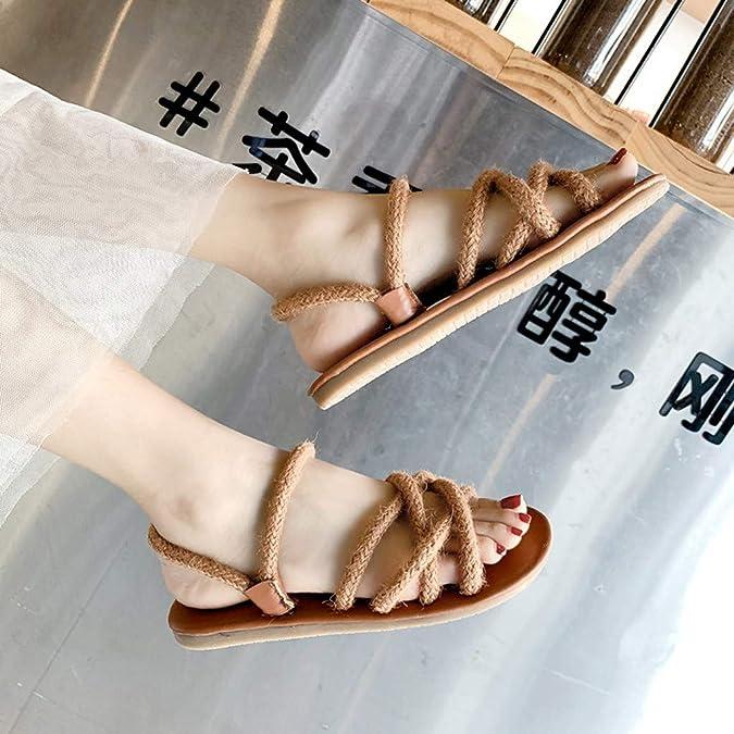 Sandales Femme Plates Compens/éEs Orthop/éDiques Talons Dames Mode Boh/èMe Cristal Chaussures Causales