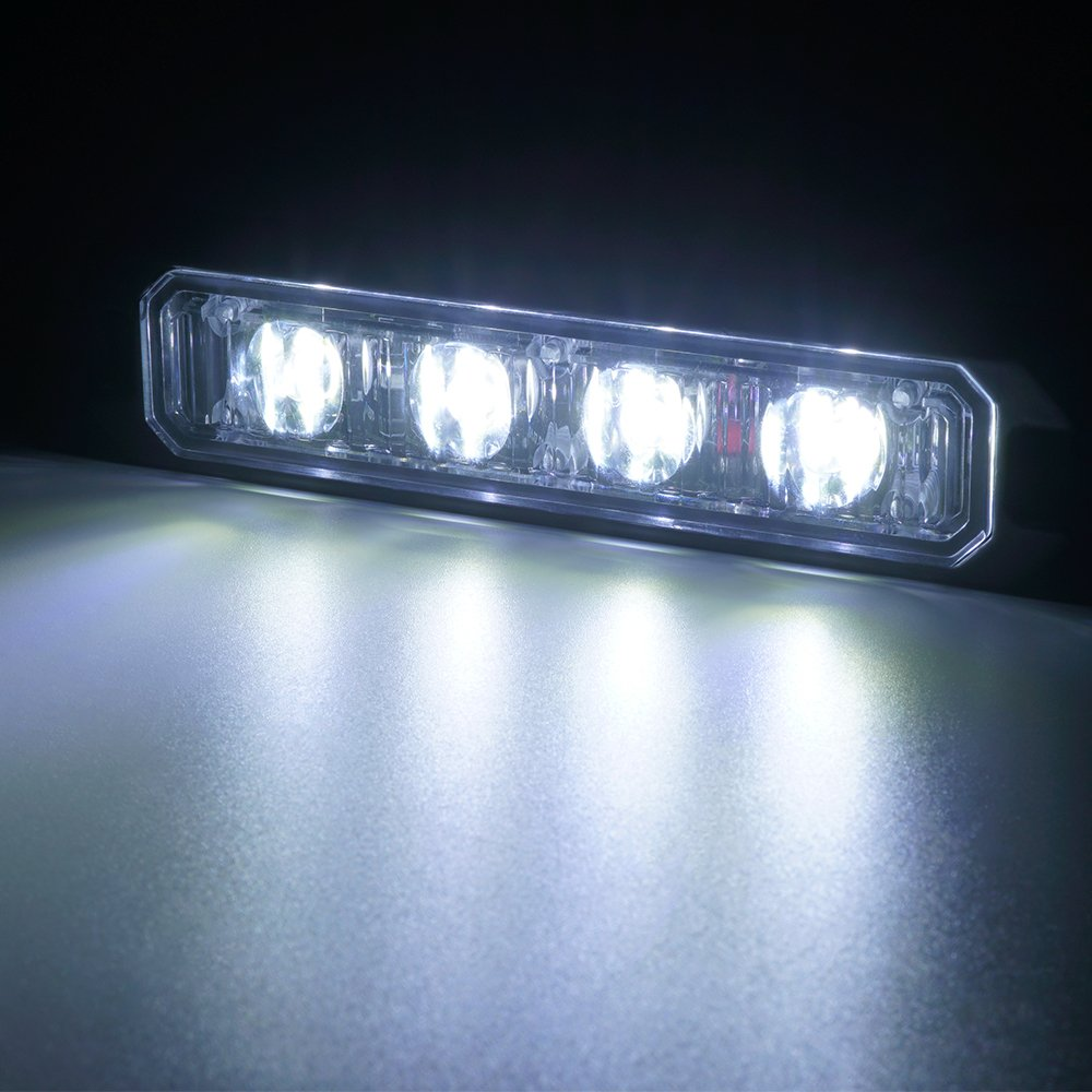 White Xprite Replacement 5 Front//Rear LED Module for Black Hawk Series Strobe Light