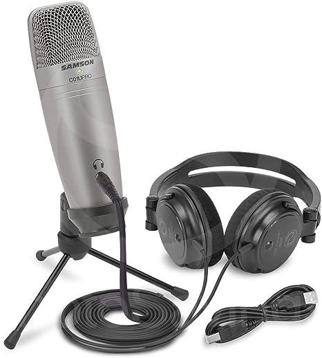 Samson C01U Pro - Pack de grabación con micrófono de estudio USB ...
