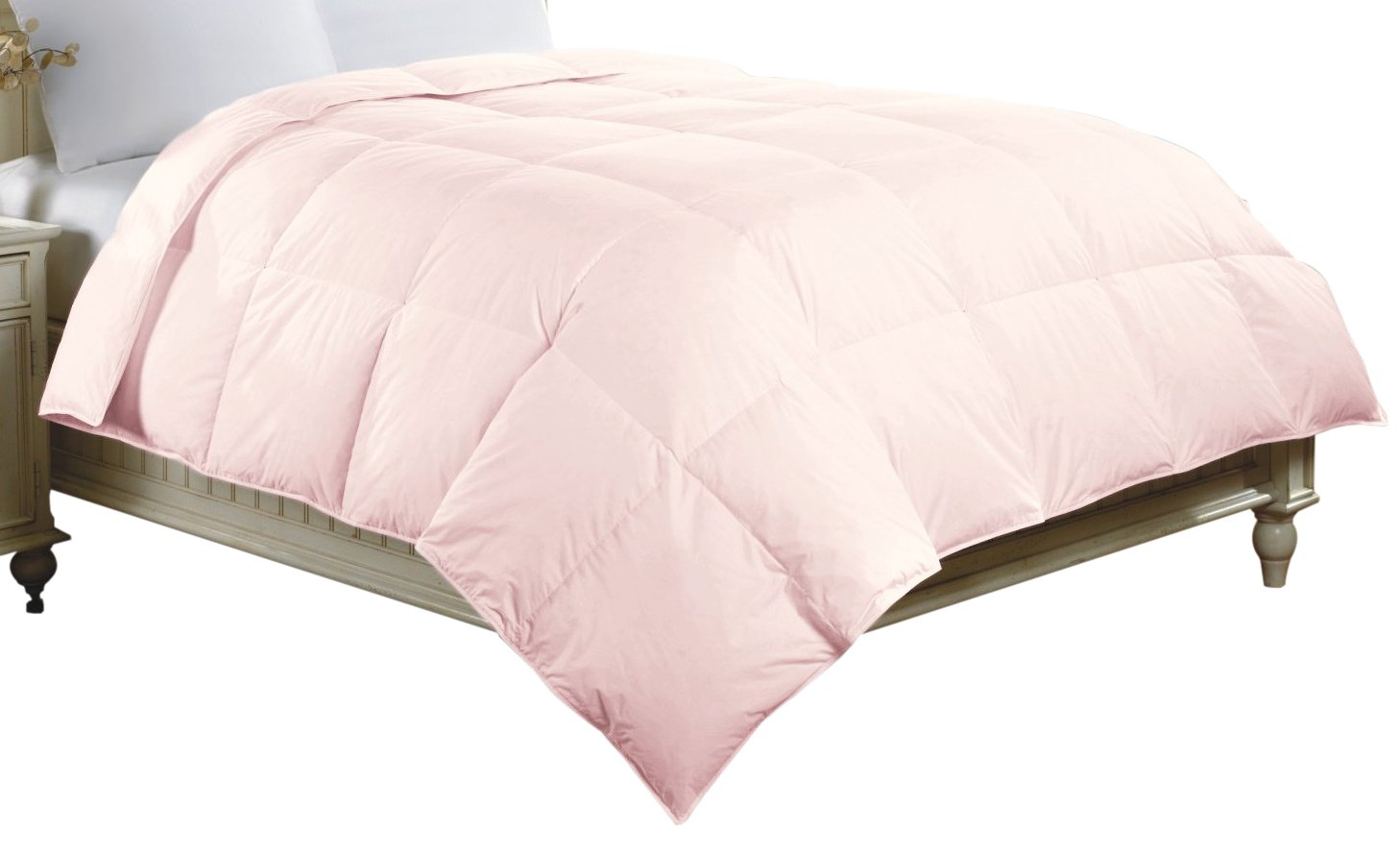 Luxlen Cotton Comforter, Full, Queen, Light Pink