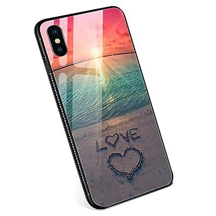 Amazon.com: Fundas iPhone X para niñas y mujeres, de cristal ...