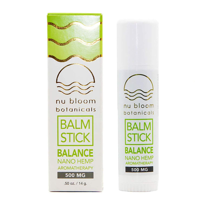 Nu Bloom BotanicalsWellness Hemp Oil - Balance and Energy - Hemp - Aromatherapy Balm Stick 0.5 oz - 500mg Balance Hemp - Balm Stick - Hemp Oil Extract - Organic Hemp Oil