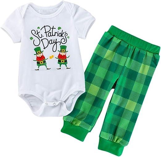 2pcs Christmas Newborn Baby Girls Boys Clothes Set Long Sleeve Tops Pants C#P5