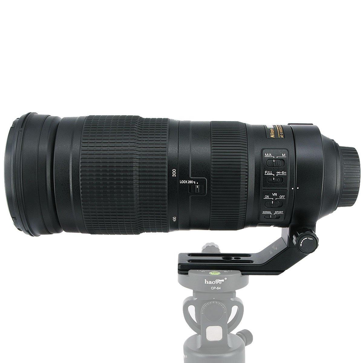 haoge lf-n25z lente collar pie trípode anillo de montaje Base de soporte para Nikon AF-S Nikkor 200–500mm f//5.6E Ed Vr lente integrado tipo Arca placa de liberación rápida