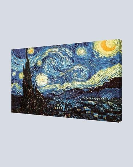 Amazon Com Your Art Creations Canvas Print Van Gogh Starry Night 24x36 Posters Prints