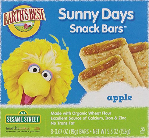 Earth's Best Organic Sunny Days Snack Bars, Apple, 8 Count