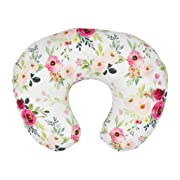 Binory 22.5  x 18  Newborn Cotton Breastfeeding Pillow Cover,Soft and Comfortable Blend Nursing Pillow Cover Slipcover,Maternity Breastfeeding Newborn Infant Feeding Cushion Cover,Baby Shower Gift(G)