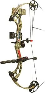 PSE Ready To Shoot Surge Bow Package with Left Hand 70# Draw, Break-Up Infinity, 29-Inch