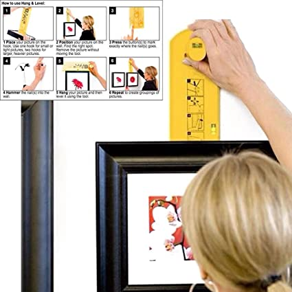 Photo Hang Level Make Picture Hanging Easy Picture Frame Hanger Tool ...