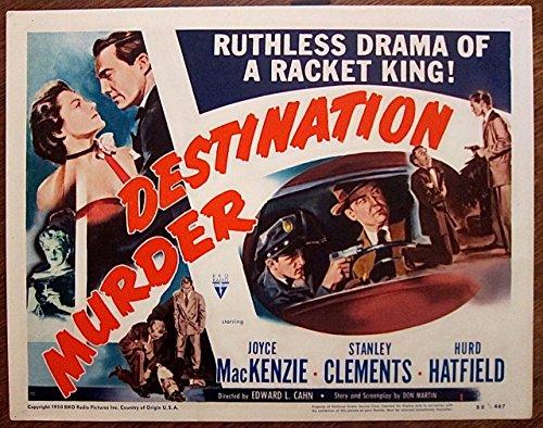 - DESTINATION MURDER 1950 TITLE CARD ~ SUPER COOL FILM NOIR ARTWORK ~ LOOK