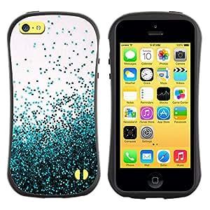 Suave TPU GEL Carcasa Funda Silicona Blando Estuche Caso de protección (para) Apple Iphone 5C / CECELL Phone case / / Balloons Dots Sky Beige Teal /
