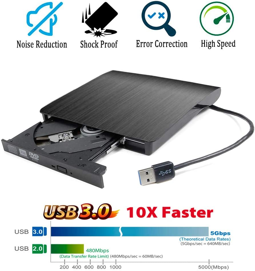 USB 2.0 External CD//DVD Drive for Asus K53SK