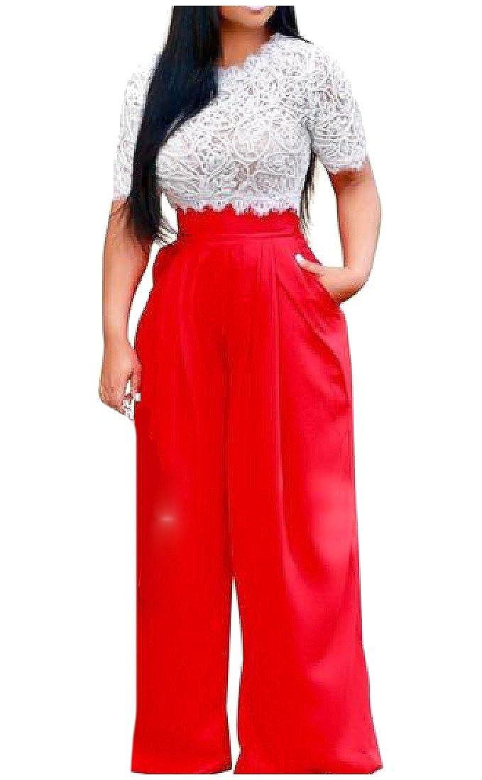Amazon.com: ruhua playera de encaje para mujer Fashion ...