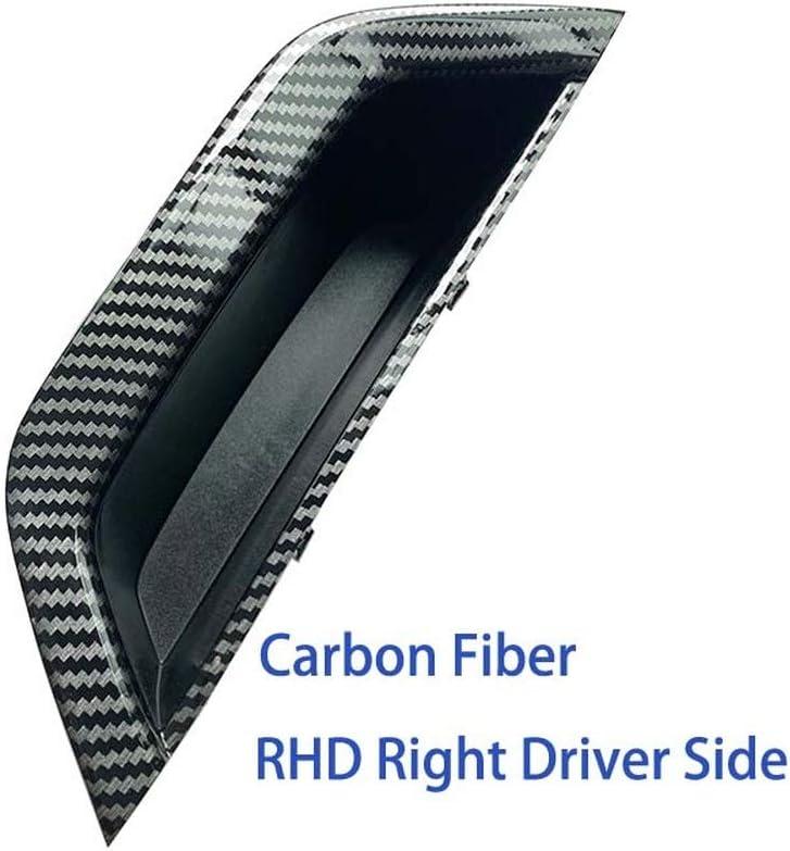 Lfldmj Mise /à Niveau LHD RHD 4 pi/èces Ensemble Porte int/érieure en Fiber de Carbone poign/ée de Traction accoudoir Panneau Couvercle pour BMW X3 X4 F25 F26 2010-2016