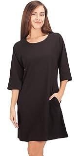 WEWINK CUKOO Ladies Nightwear 100% Cotton Nightdress 3 4 Long Sleeved  Nighties Nightshirt f9ac6f2dd