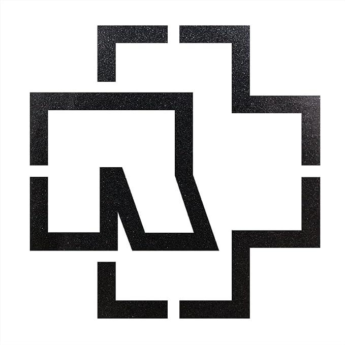 Rammstein Auto Aufkleber Sticker Anthrazit Metallic Outline Logo Freistehend 38 X 38cm Offizielles Band Merchandise Auto