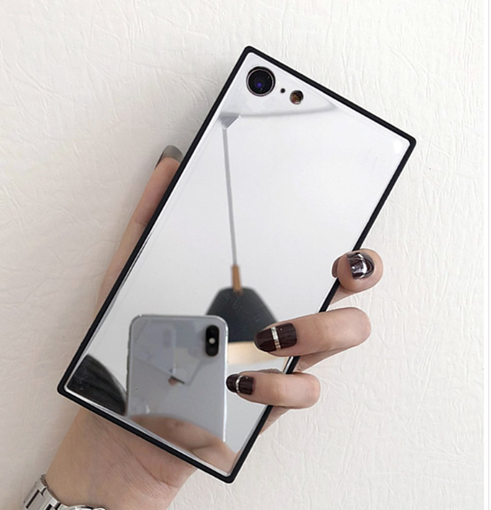 sale retailer 72987 73f09 iPhone 8 Mirror Case,iPhone 7 Case with Mirror,Luoming Luxury Square ...