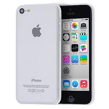 doupi UltraSlim Funda para iPhone 5C, Finamente Estera Ligero Estuche Protección, blanco
