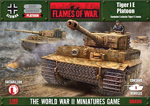 Flames of War German Tiger I E Platoon GBX90