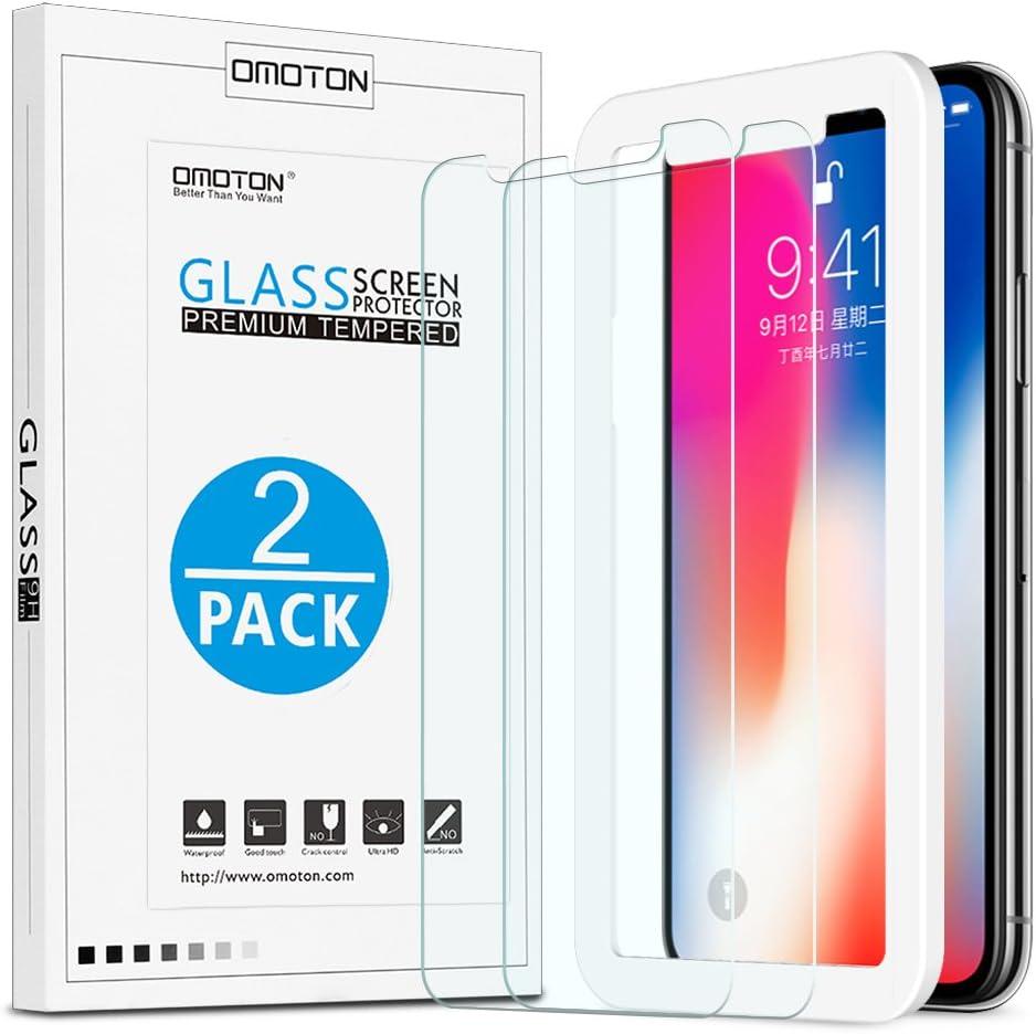 2-Pack】OMOTON Protector Pantalla para iPhone x/ iPhone xs/ iPhone 11 pro, Cristal Tempaldo Anti-arañazos Alta Definición, 【con Herramienta de Instalación】: Amazon.es: Electrónica