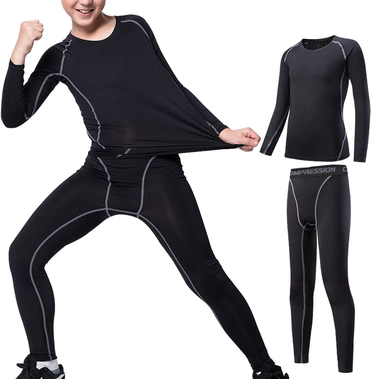 Biancheria intima termica per bambini set di biancheria intima termica a maniche lunghe pantaloncini lunghi. per linverno funzionale e funzionale per lo sci traspirante