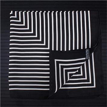 Lili Fringe Frame Pañuelos Cuadrados Pañuelo Pañuelo de Seda Mujer ...