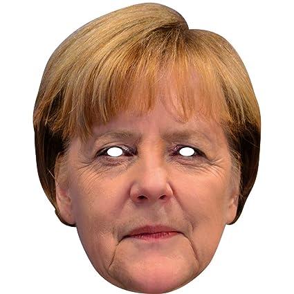 Máscara Angela Merkel | Careta de Cartón Presidente | Antifaz Canciller | Mascarilla Político