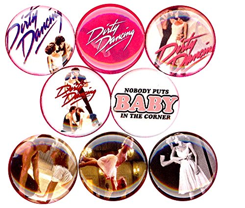 Baby Dirty Dancing Halloween Costume (Dirty Dancing 8 NEW button pin badges nobody puts baby in the corner swayze)