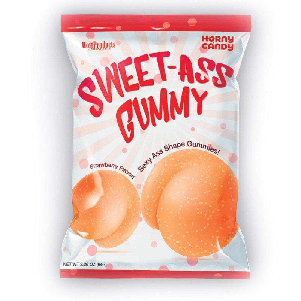 Sweet Ass Gummy Butt Shaped Gummies - 8 per Bag Display
