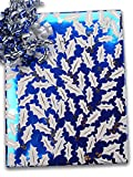 24'' X 100' Sapphire Holly (Metallized) Gift Wrap