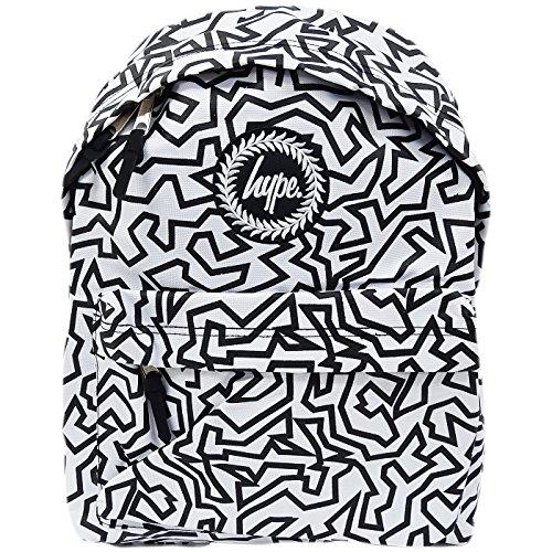 Hype  Hype bag (Line Art Ss17) White, Herren Schultertasche weiß weiß Einheitsgröße