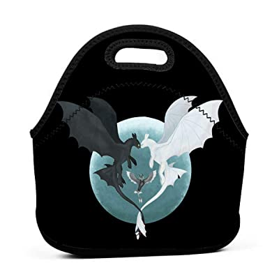 .com - Liuerfeng Toothless and Light Fury Waterproof Lunch Tote Bag Portable Picnic Lunch Box Lunch Pouch -