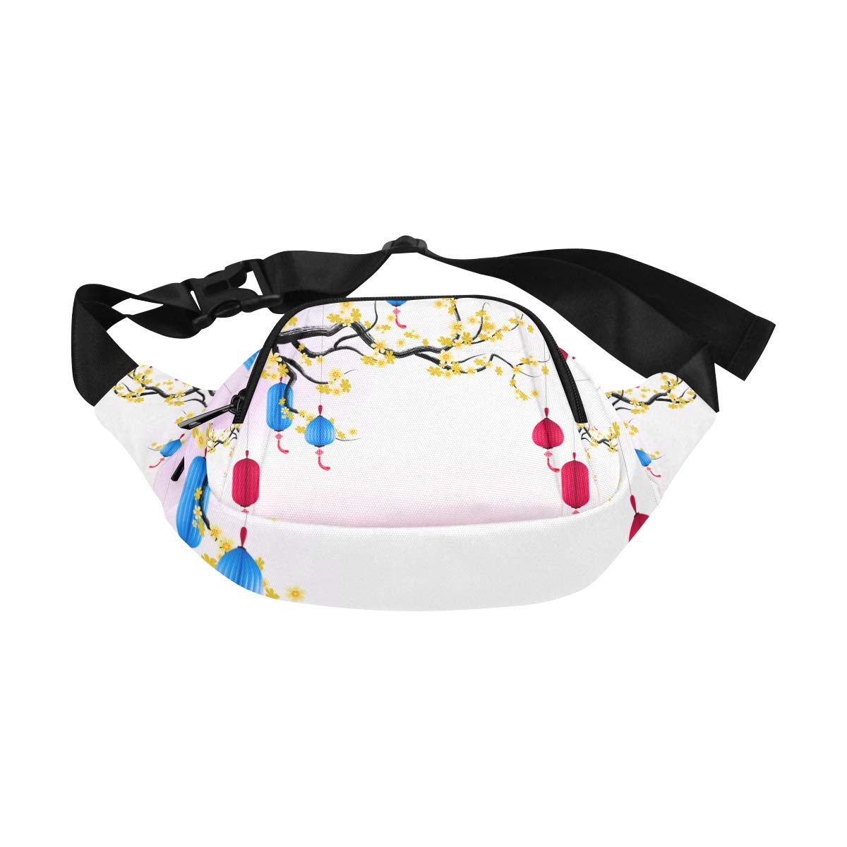 Chinese New Year And Mid-autumn Festival Lanterns Fenny Packs Waist Bags Adjustable Belt Waterproof Nylon Travel Running Sport Vacation Party For Men Women Boys Girls Kids