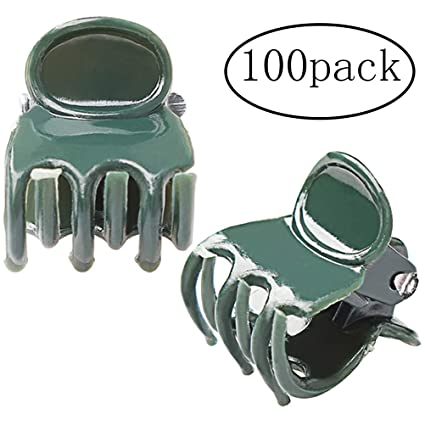 Amazon Com Pengxiaomei 100 Pack Orchid Clips Dark Green Plant