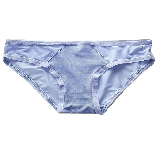 H-M-STUDIO Ropa Interior para Mujeres Malla Transparente Ropa Interior Encaje Triángulo Entrepierna De Algodón Pantalones con Cintura A La Cintura.