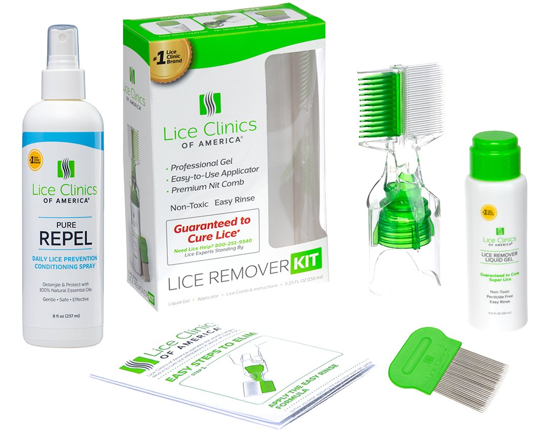 Lice Remover Kit + Daily Prevention Conditioning Spray Combo – Cure & Repel Lice with Complete Kit