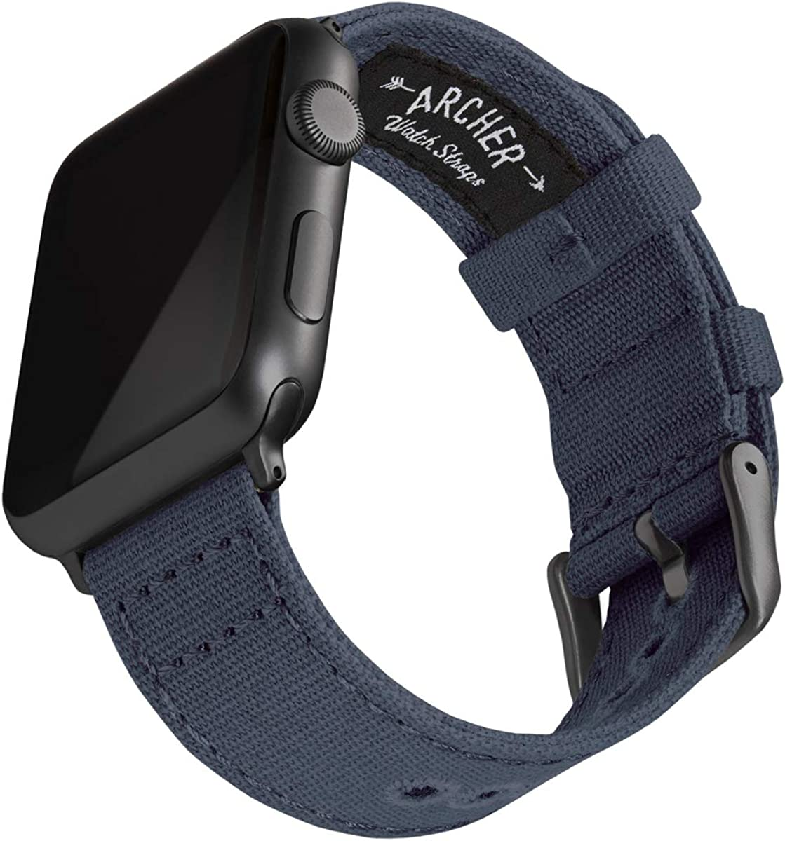 Archer Watch Straps - Canvas Watch Bands for Apple Watch   Multiple Colors, 38/40mm, 42/44mm