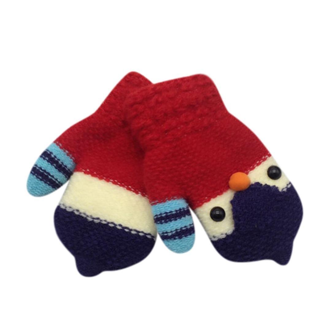 Iuhan Cartoon Toddler Baby Lovely Soft Thicken Hot Girls Boys Of Winter Warm Gloves