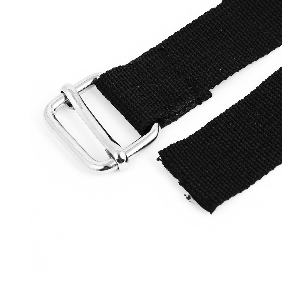 EbuyChX Metal Buckle Suitcase Bagahe Adjustable Belt Strap 2M x 25mm Black