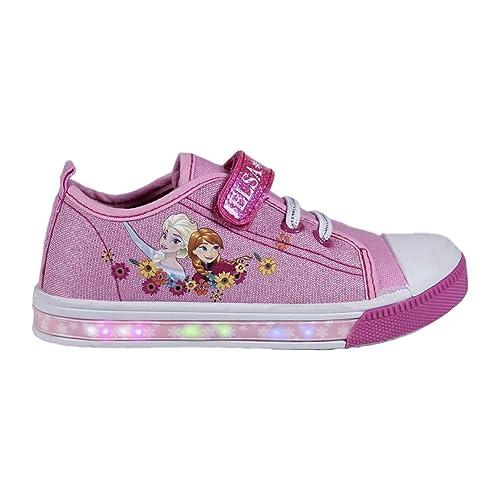 8004c0bd3ee36 Disney Frozen Baskets Sneakers Enfants LED Chaussures Lumineuse Reine des  Neiges (30)