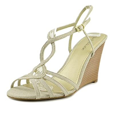 5444b86a51 Kelly & Katie Nessie Women US 6.5 Ivory Wedge Sandal: Amazon.co.uk ...