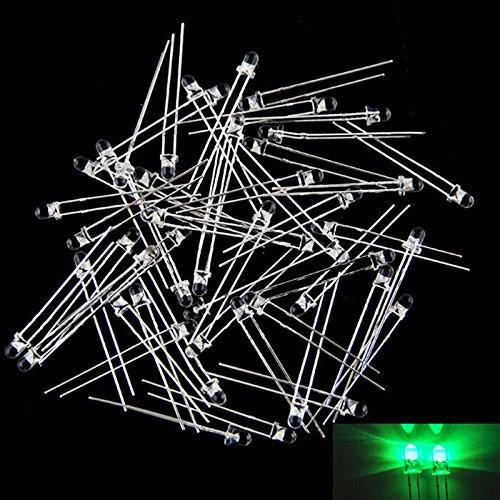 DS Styles 50pcs/Ensemble de lumière LED Lampe diodes Électroluminescentes transparente Long-foot 5mm Multicolore