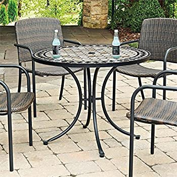Amazon home styles 5605 30 outdoor marble patio dining table home styles 5605 30 outdoor marble patio dining table with round top 39 watchthetrailerfo