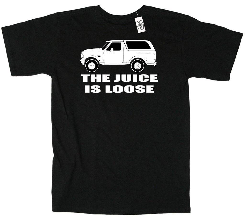 OJシンプソン ホワイトブロンコ「Juice is Loose」Tシャツ   B01C4O4XNE