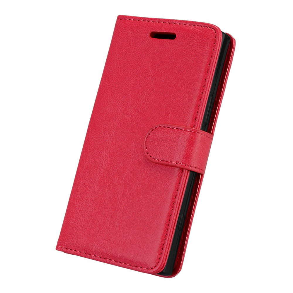 BONROY/® Retro Matte Premium PU Leather Stand Flip Phone Case with Magnetic Card Slot Holder Wallet Book Design Fordable Cover for Sony Xperia XZ1 Compact Sony Xperia XZ1 Compact Case Leather Cash and 9 Card Slots Xperia XZ1 Compact Flip Wallet Case
