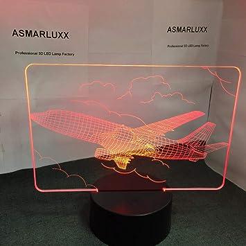 Especie de avión Cambio de Color luz Nocturna Modelado de aviación ...