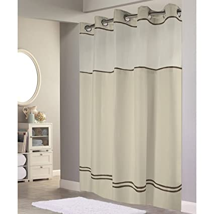 Hookless Monterey Hotel Quality Shower Curtain With Snap In Liner